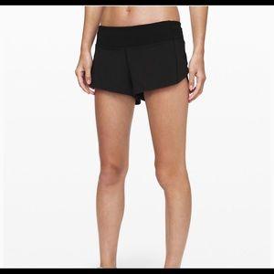 Black Lululemon Speed up Shorts Size 2
